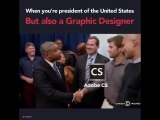 CGfrog - When Youre a President of The United States, But also a Graphic Designer