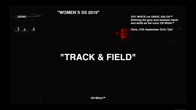 Off-White TRACK FIELD S/S 2019 Show