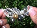 Museum Quality Tahitian Pearl &amp Diamond Pendant Set In 18K White Gold Circa 1981 Top Gem