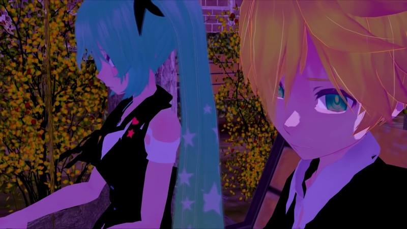 MMD ACUTE Reverse Talking Part Len x Miku KAITO