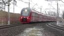 Электропоезд ЭШ2-024 Аэроэкспресс перегон Внуково - Лесной Городок