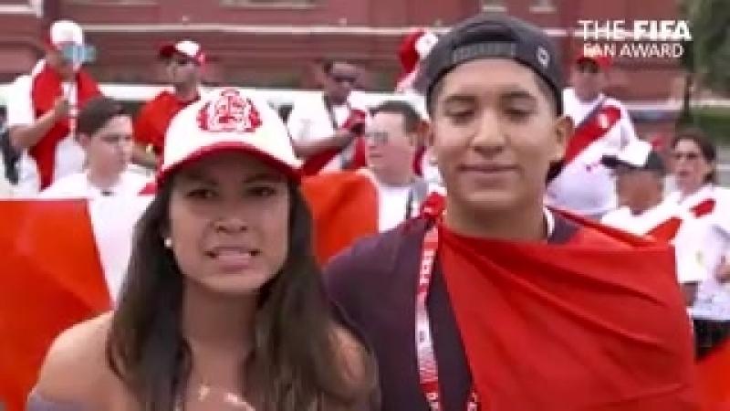 FIFA Fan Award 2018 нұсқасы бойынша Перу жанкүйерлері ең үздік жанкүйерлер