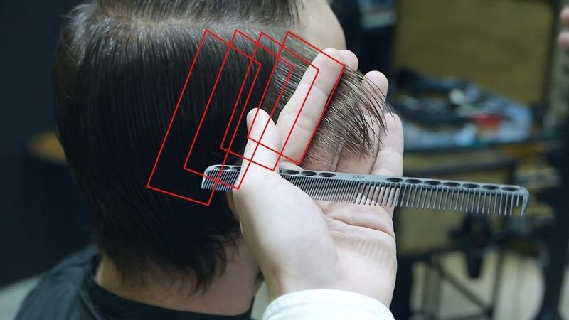 Mens classic medium length haircut