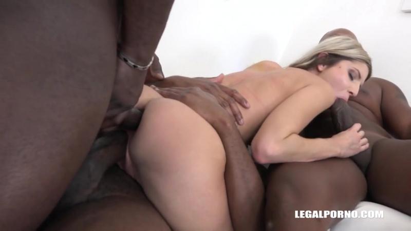 Gina Gerson (new porn, Gangbang, Gape, Anal, Deep throat, Hardcore) с тремя неграми ебётся