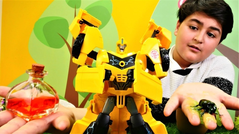 Transformers oyunları. Bumblebee yi hıçkırık tutuyor