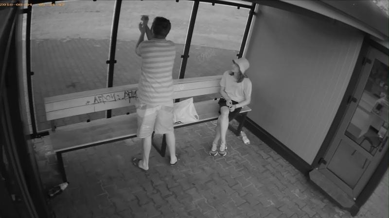 Камера видеонаблюдения как разрисовывают остановки Брест