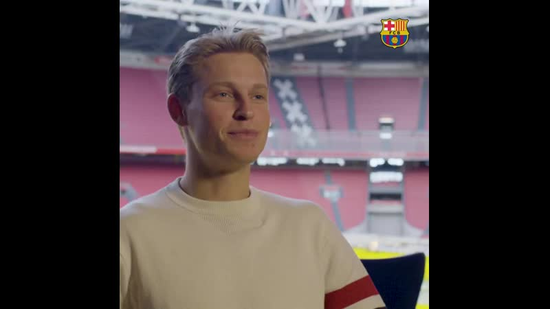 Frenkie de Jong introduces himself to the Barça fans - Check out the full interview at.mp4