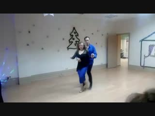 Павел и Анжелика _ Bachata _ REZONANS - номер домашней новогодней вечеринки