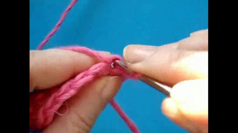 Видеоурок вязания крючком . Вытянутая петля букле – 5 способ – без использования пальцев