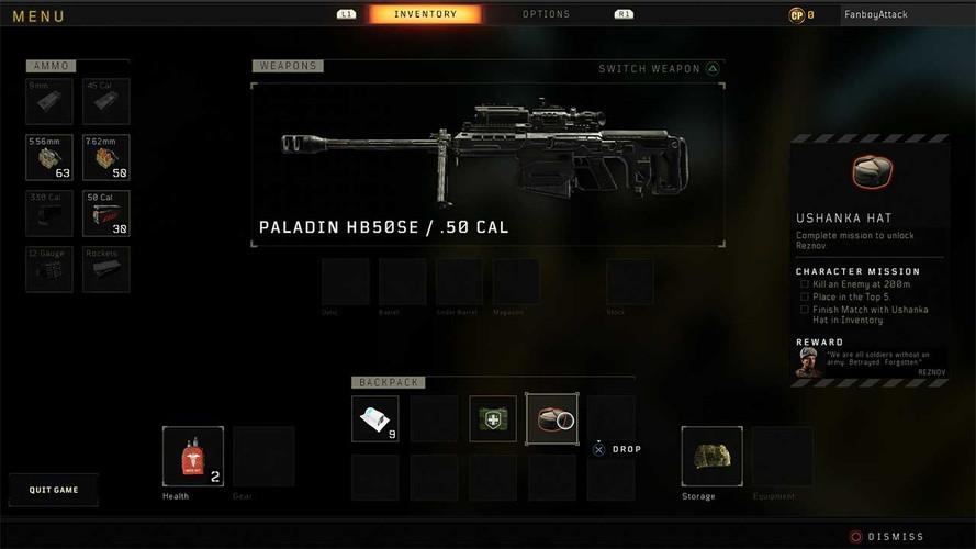 снайперская винтовка вCall of DutyBlack Ops 4 Blackout