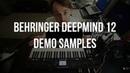Demo Samples Behringer DeepMind 12 - сэмплы синтезатора