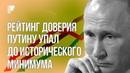 Рейтинг катастрофически теряет не только Путин а вся госсистема в целом