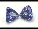 Pair Blue Triangle Tanzanites Set of 2 1.60 TCW Top Quality Gemstones - C1252
