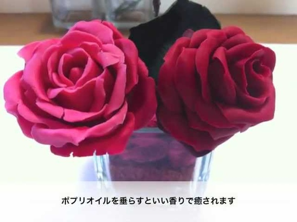 粘土でバラを作る 実験編