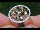 Estate Fancy Color VS Diamond 18k Rose Black Gold Art Deco Cocktail Ring C425