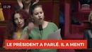 HIER, LE PRÉSIDENT A PARLÉ. IL A MENTI - Mathilde Panot