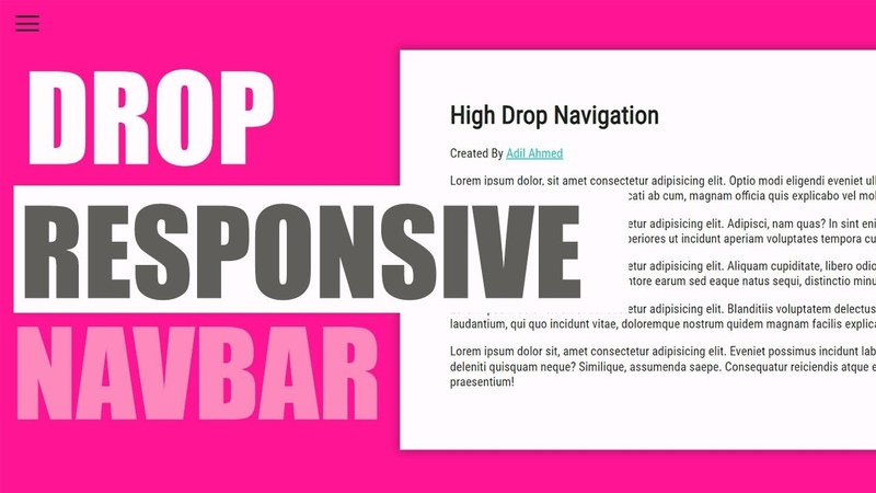 Responsive Navigation Menu Bar Tutorial with HTML 5 and CSS 3