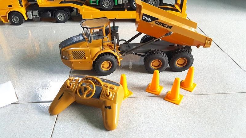 Mở hộp đồ chơi rc xe ô tô tải volvo điều khiển từ xa rc truck toys