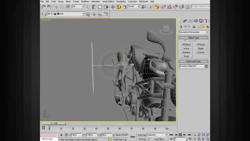 3ds Max Modeling Tips Using the Conform Space Warp in 3ds Max