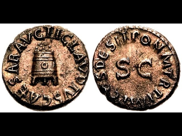 Квадранс 41 год Клавдий Монета Римской Империи Claudius Quadrant 41 AD