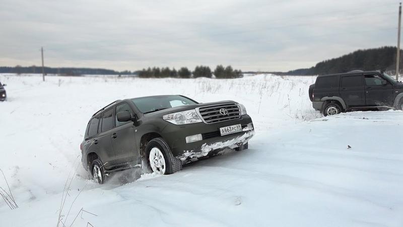 Land Cruiser 200 выносит УАЗа с блокировками Жёсткий Оффроад 402 по полю! Бездорожье 2018