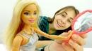 Барби видео. Новое зеркало для куклы из бумаги и фольги