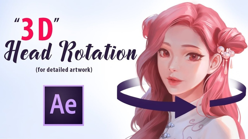 """3D"" Head Rotation for Detailed Artwork in After Effects"