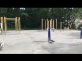 Новую спортивную площадку монтируют на Опорной, 4, возле лицея 3. В новом учебном году ученики и местные жители смогут заниматьс