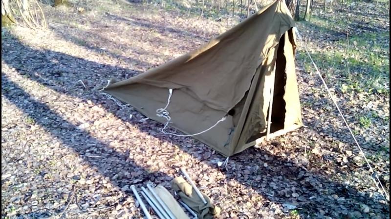 Видеоинструкция №1 как в одиночку поставить палатку