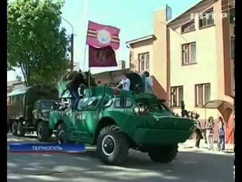 Украина отмечает День Победы: В Тернополе стычка коммунистов с националистами 09.05.2013