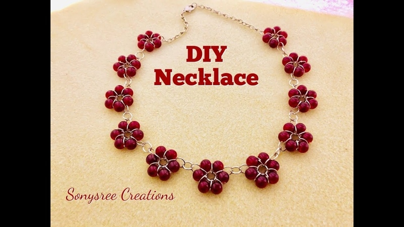 Easy to make Beaded Necklace 💞DIY beaded necklace