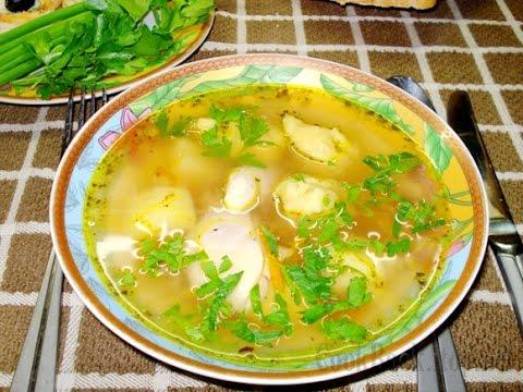 Куриный суп с галушками.