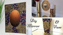 Diy Fiery colored Wall Mirror and Vase Decor Simple and Inexpensive Abstract Wall Mirror Decor
