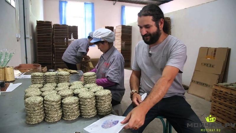 Юньнань, Цзингу. Часть 1. Производство чая пуэр на заводе Да Е, весна 2015 Yunnan, Jinggu, Da Ye