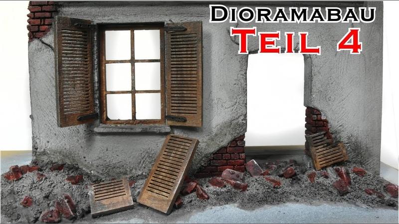 Hausruine selber bauen Teil 4 Bemalung für mein Tiger 1 Winter Diorama