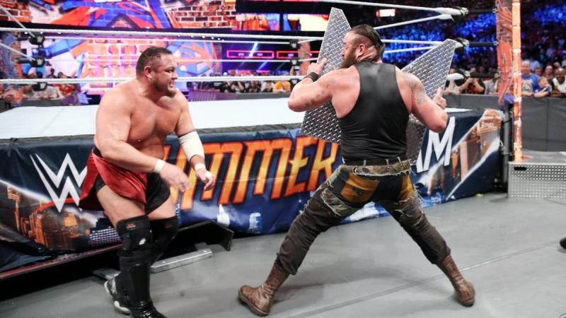 (WWE Mania)SummerSlam 2017 Brock Lesnar vs Roman Reigns vs Samoa Joe vs Braun Strowman -Fatal 4-Way Universal Championship Match