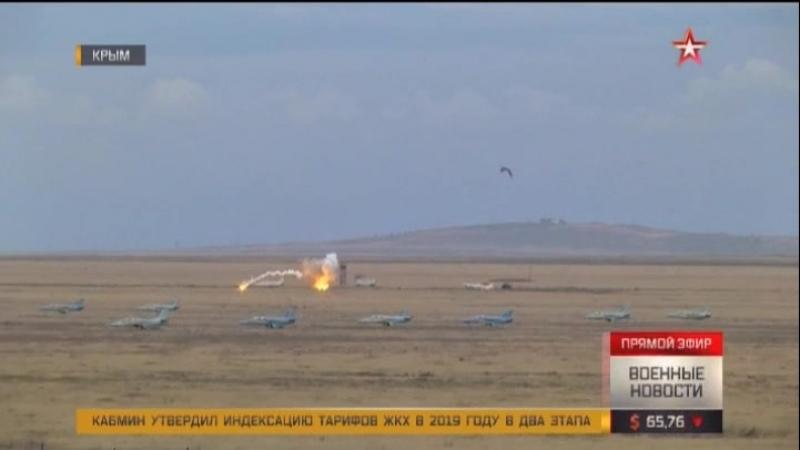 «Грачи» заклевали: штурмовики Су-25 разгромили колонну бронетехники «противника» в Крыму