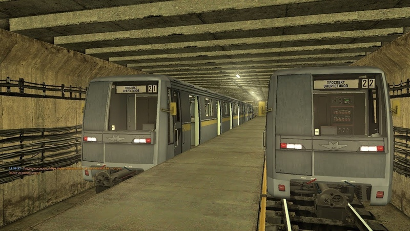 Garry's Mod Metrostroi Imagine Line Селигерская Жёлтая Линия на Яузе 81 722