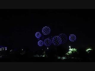 1500 дронов с подсветкой устроили шоу в честь 50 лет Intel