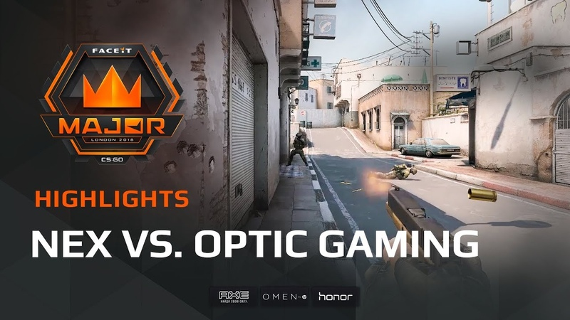 Highlights Nex vs OpTic Gaming FACEIT Major London 2018 New Challengers Stage