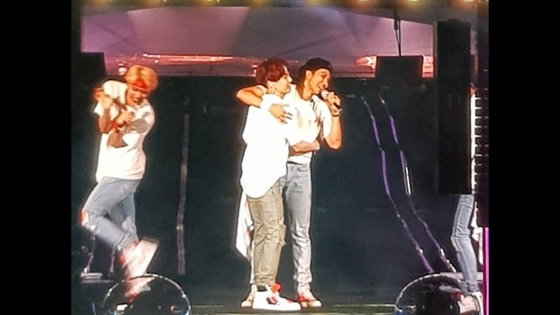 BTS Member Reaction when Namjoon said he wanted a HUG ~~ 😭😭💕💕 BTSLoveYourselfTour Day 2