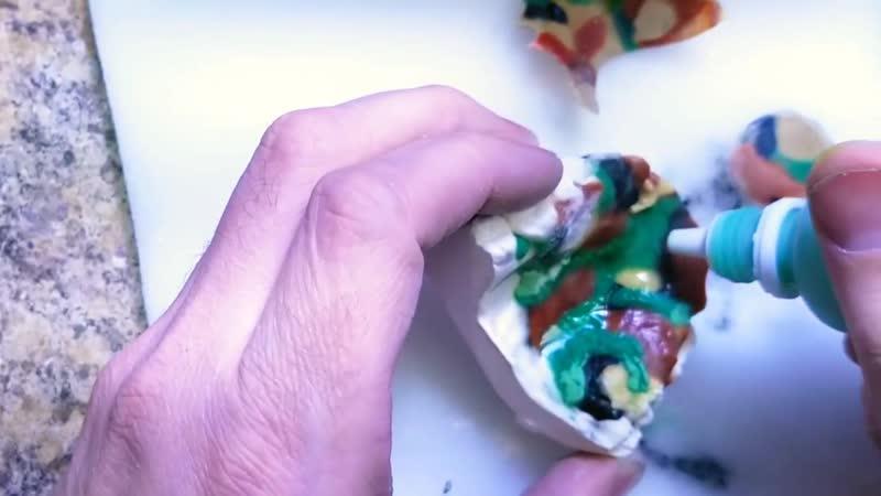 How to make a Camoflauge Retainer. Изготовление ортодонтического ретейнера.