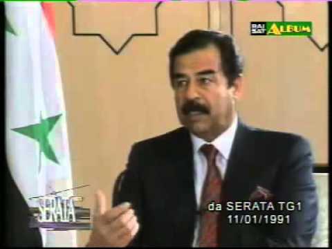 TG1 - intervista a saddam hussein - 11.01.1991