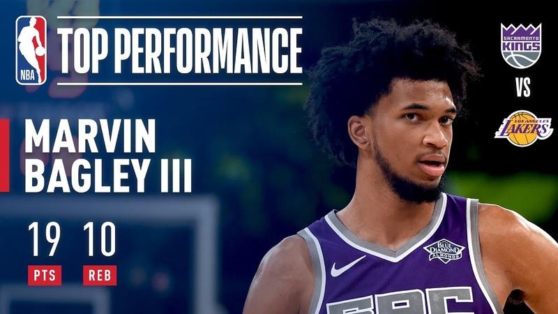 Marvin Bagley III Puts Up 19 vs The Lakers | 2018 NBA Preseason NBANews NBA Kings