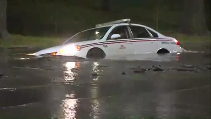 TTC vehicle gets swallowed by sinkhole