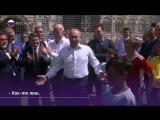 Путин и Инфантино играют в футбол на Красной площади