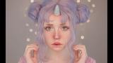 unicorn inspired makeup affordable items (english cc subtitles)