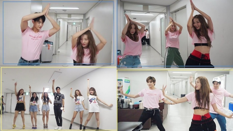 NCT, EXO's Suho, SHINee's Minho, Yunho other Takes on Red Velvet Power Up Dance