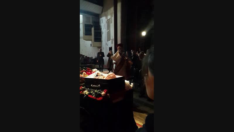 Отпевание Масановой Натальи Петровны на сцене театра