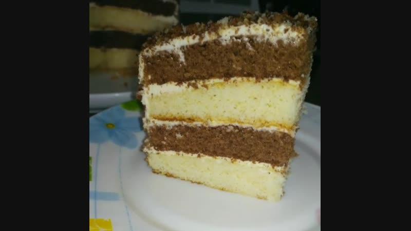Торт День и Ночь (ингредиенты указаны в описании видео)